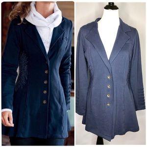 Soft Surroundings Blue Tallulah Sweater Jacket